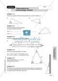 Aufgaben zur Trigonometrie: Verhältnisse im rechtwinkligen Dreieck Preview 10
