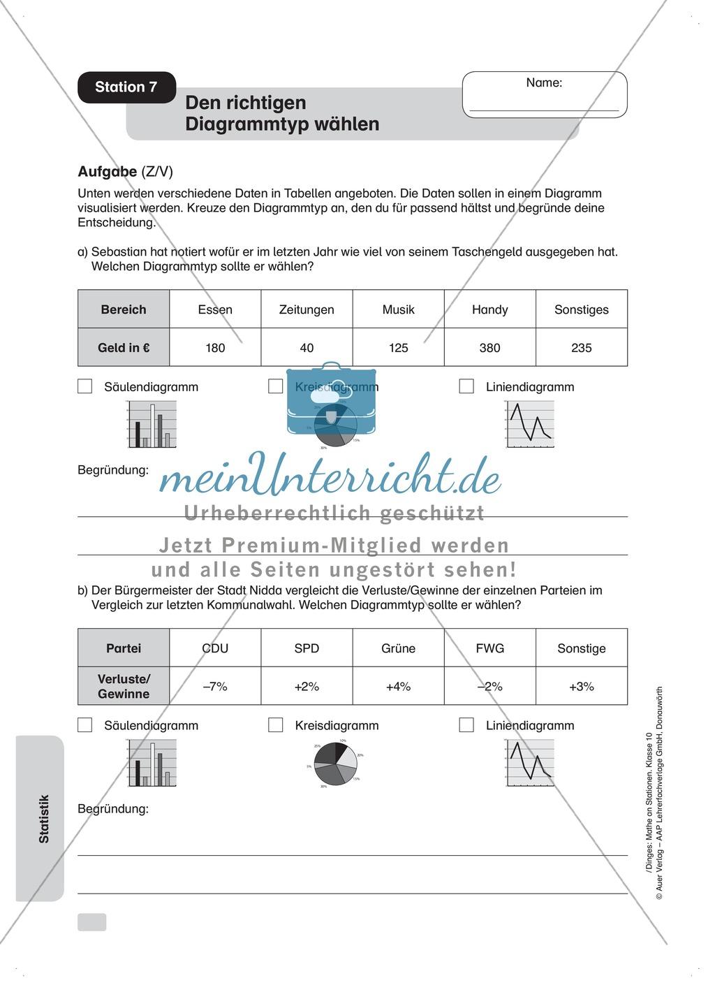 Statistik: Zentralwert (Median), Tabellen und Diagramme - meinUnterricht