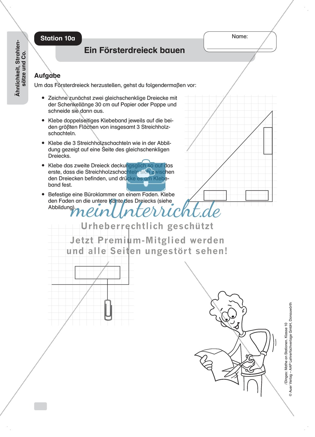 Stationenlernen: Ähnlichkeit und Strahlensätze (Übungen zu den ...