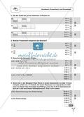 Prozentrechnung: Vermehrter und verminderter Grundwert. Enthält Schnelltest und Lösungen. Preview 1