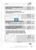 Flächeninhalt und Umfang von Trapezen, Drachen und Dreiecken. Enthält Schnelltest und Lösungen. Preview 2