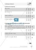 Einfache und geklammerte ganze und rationale Terme und Gleichungen. Enthält einen Schnelltest und Lösungen. Preview 9