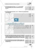 Lineare Funktionen: Steigung, Gleichung und Graph von linearen Funktionen. Enthält Schnelltest und Lösungen. Preview 4