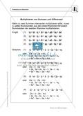 Mathematik, Zahlen & Operationen, Rechengesetze, Distributivgesetz