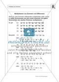 Multiplizieren von Summen und Differenzen - Das Distributivgesetz Preview 1