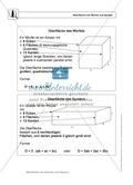 Mathematik, Raum & Form, Körperberechnung, Quader, Oberfläche, Würfel, Volumen