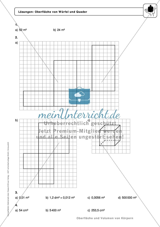 Ungewöhnlich Oberfläche Von Prismen Arbeitsblatt Fotos - Super ...