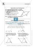 Geometrie: Eigenschaften und Konstruktion von Parallelogrammen - Infotext + Aufgaben + Lösungen Preview 1