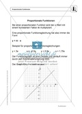 Funktionen: Eigenschaften und Steigung von proportionalen Funktionen - Infotexte + Aufgaben + Lösungen Preview 1