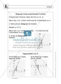 Funktionen: Eigenschaften und Steigung von proportionalen Funktionen - Infotexte + Aufgaben + Lösungen Preview 4
