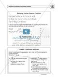 Funktionen: Steigung von linearen Funktionen - Infotext + Aufgaben + Lösungen Preview 1