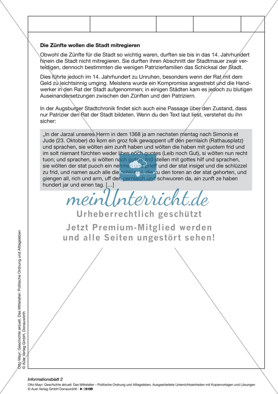 Mittelalter: Patrizier und Handwerker. Preview 1