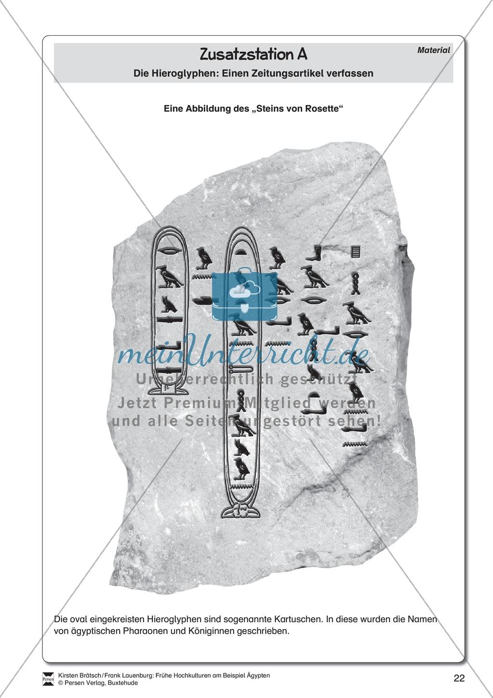 Ägypten - Stationenlernen Preview 18