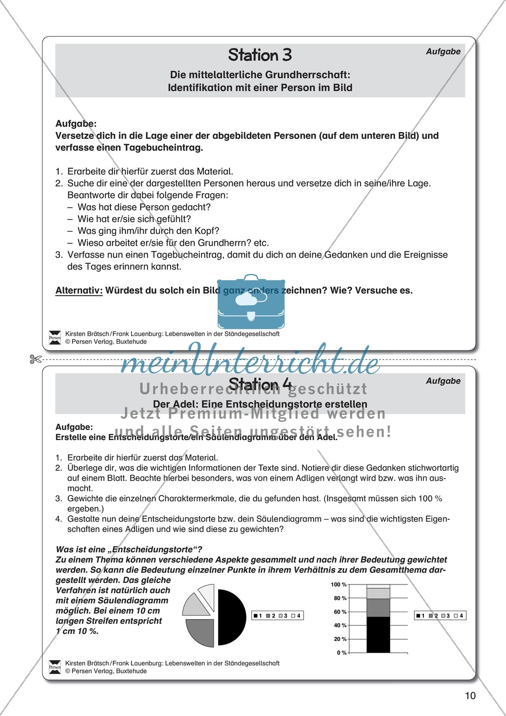 leben in der st ndegesellschaft meinunterricht. Black Bedroom Furniture Sets. Home Design Ideas