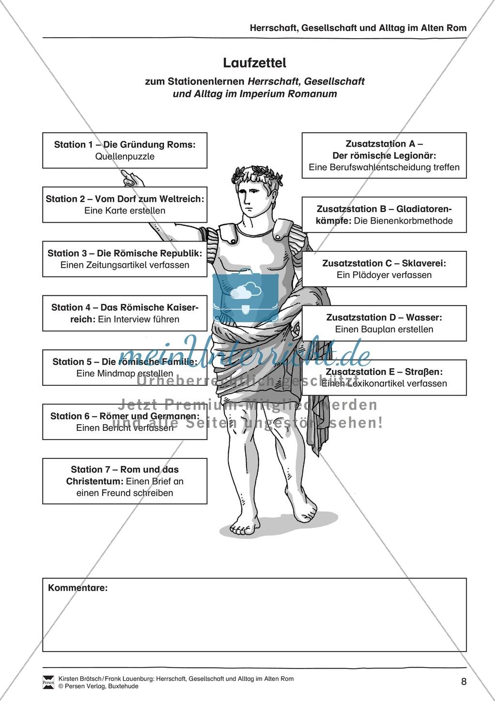 Das alte Rom - Stationenlernen. Preview 0