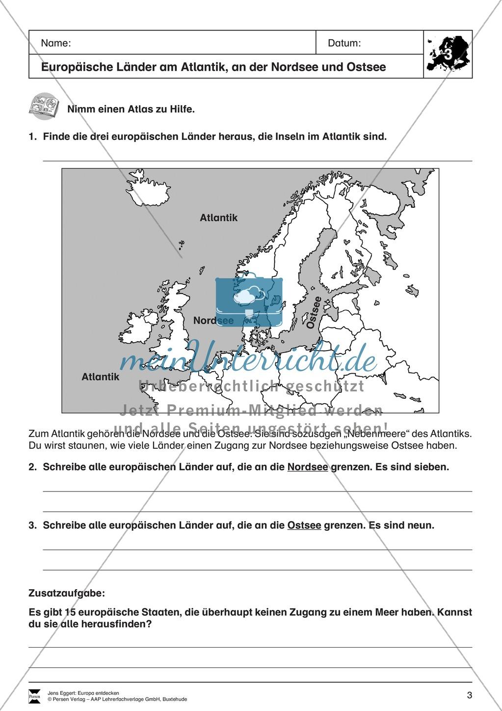 Der Kontinent Europa: Länder + Flaggen Preview 1