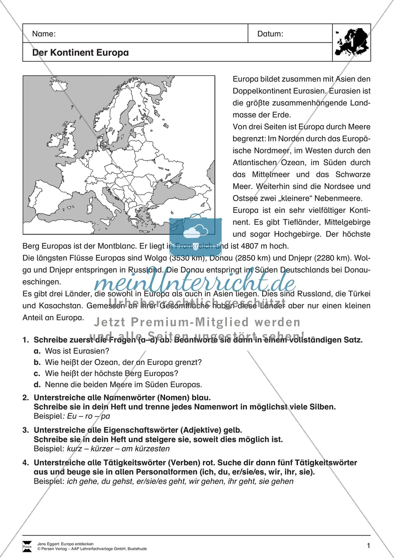 Der Kontinent Europa: Grundlagen Preview 0