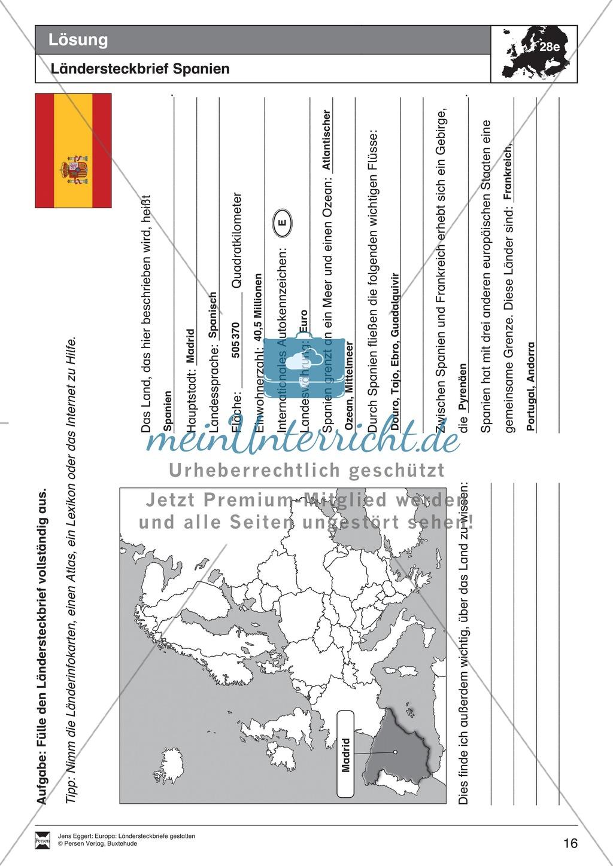 Europa: Ländersteckbriefe selbst gestalten Preview 15
