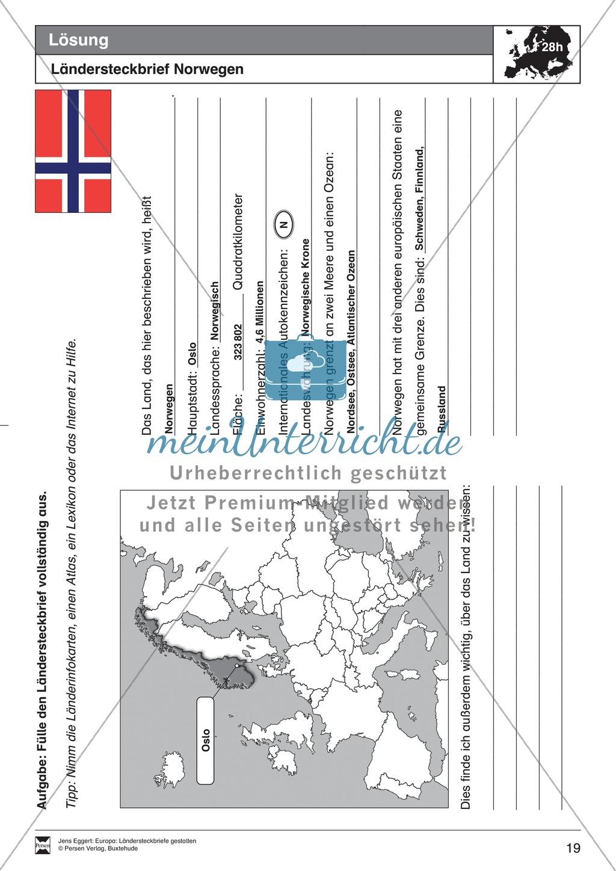 Europa: Ländersteckbriefe selbst gestalten Preview 18