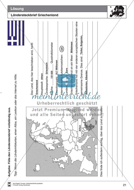 Europa: Ländersteckbriefe selbst gestalten Preview 20