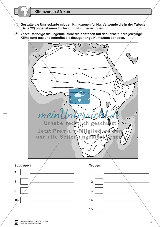 Das Klima in Afrika: Klimazonen + Klimadiagramme + Vegetation Preview 2