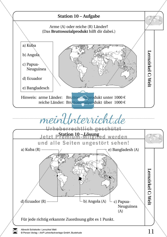 Lernzirkel Geographie der Welt - Arbeit an Stationen Preview 9
