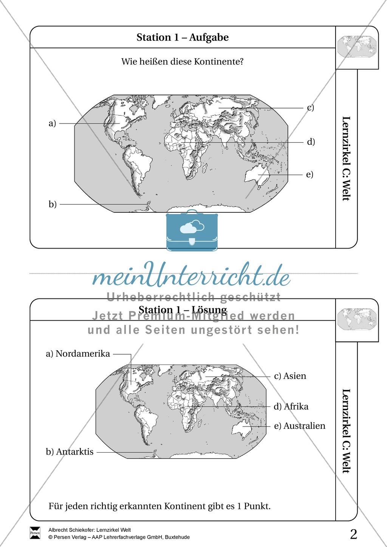 Lernzirkel Geographie der Welt - Arbeit an Stationen Preview 0