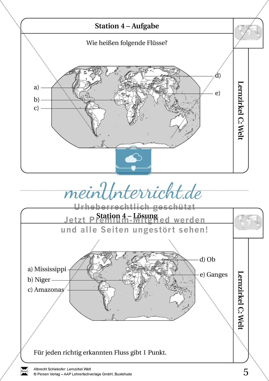 Lernzirkel Geographie der Welt - Arbeit an Stationen Preview 3