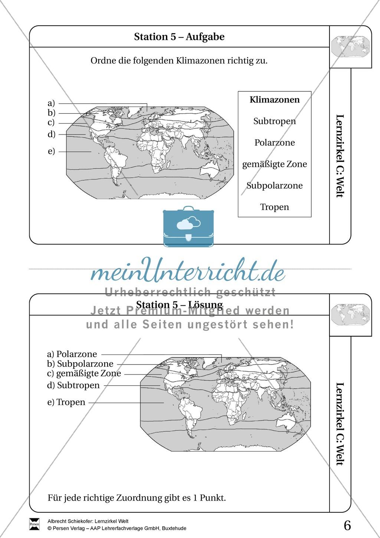 Lernzirkel Geographie der Welt - Arbeit an Stationen Preview 4