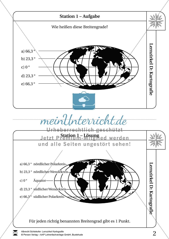 Lernzirkel Kartographie - Arbeit an Stationen Preview 0