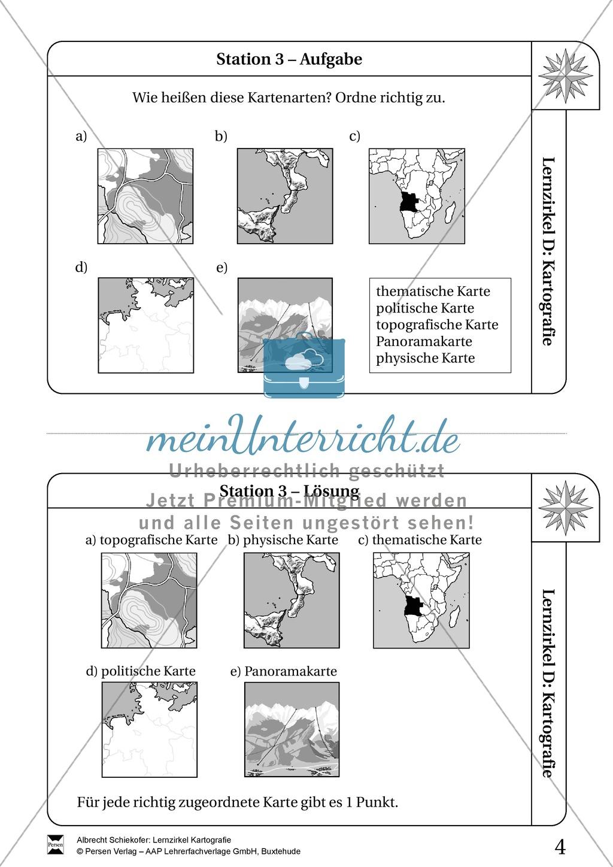 Lernzirkel Kartographie - Arbeit an Stationen Preview 2