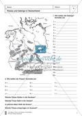 Arbeit mit Atlanten: Landschaftsformen, Flüsse und Gebirge in Deutschland Thumbnail 6