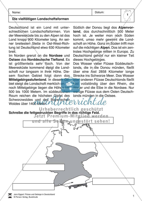 Arbeit mit Atlanten: Die Landschaftsformen Deutschlands Preview 0