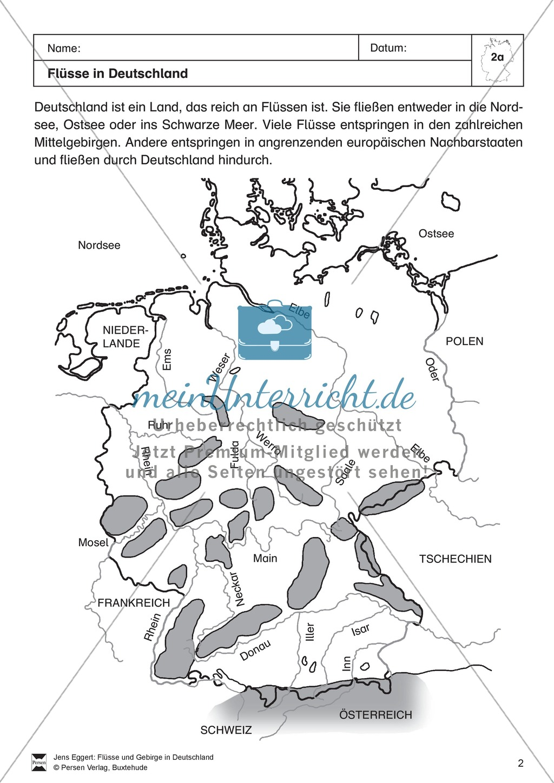 Arbeit mit Atlanten: Flüsse in Deutschland Preview 0
