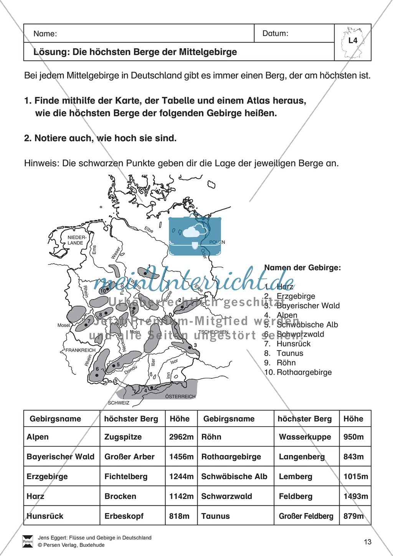 Arbeit mit Atlanten: Mittelgebirge in Deutschland Preview 5