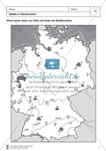 Städte in Deutschland: Räumliche Verteilung + Basisdaten + Städterätsel Preview 1
