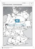 Verkehrswege in Deutschland: Autobahnen + Flughäfen - Räumliche Ausdehnung + Verteilung Preview 1