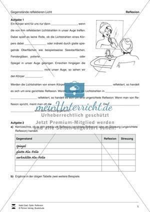 Arbeitsblätter für Physik in der 5. Klasse | meinUnterricht.de