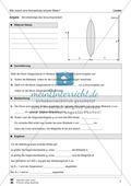 Optik - Bilderzeugung bei der Sammellinse: Vorlage Versuchsprotokoll + Aufgaben + Lösungen Preview 3
