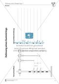 Mechanik: Überprüfung des Hookschen Gesetzes an Gummiringen. Mit Protokollvorlage und Lösungen. Preview 1