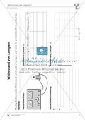 Elektrizitätslehre: Vorlage für ein Versuchsprotokoll zur Messung des Widerstands von Lampen + Lösungen Preview 1