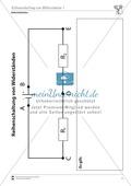 Elektrizitätslehre: Reihenschaltung von Widerständen - Aufgaben + Lösungen Preview 1