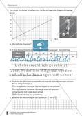 Mechanik: allgemeine Bewegungen von Körpern, gleichförmige Bewegungen und Weg-Zeit-Diagramme. Mit Aufgaben, Lernzielkontrolle / Test und Lösungen. Preview 4