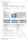 Einführung in Physik: Test / Lernzielkontrolle über Teilgebiete der Physik, Einheiten, Diagramme mit Lösungen. Preview 1