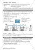 Mechanik: Volumen, Masse und Dichte eines Körpers, Archimedisches Prinzip. Mit Infotext, Aufgaben und Lösungen. Preview 8