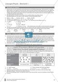 Mechanik: Test / Lernzielkontrolle über Eigenschaften von Körpern, Brownsche Bewegung, Dichte, Masse und Volumen von Körpern mit Lösungen Preview 3
