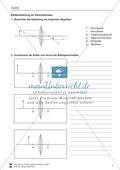 Optik - Aufgaben zu Linsen + Anwendungsmöglichkeiten + Lösungen Preview 2