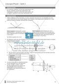 Optik - Test / Lernzielkontrolle zur Lichtbrechung und Linsen + Lösungen Preview 3