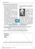 Wärmelehre: Temperatur, Temperaturmessung und verschiedene Temperaturskalen + Historisches- Aufgaben + Lernzielkontrolle + Lösungen Preview 4