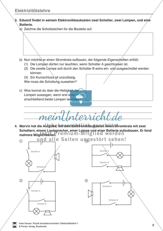 Elektrizitätslehre: Grundlagen des elektrischen Stroms, Stromkreise ...
